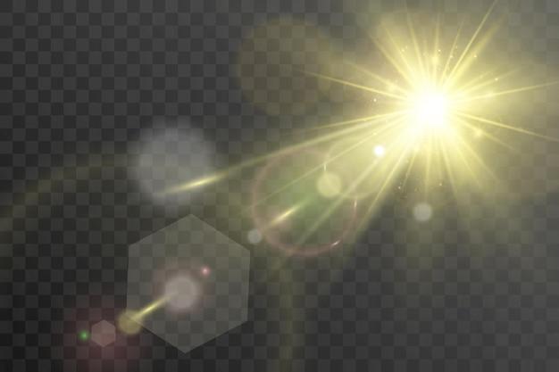 Efekt specjalny rozbłysku światła