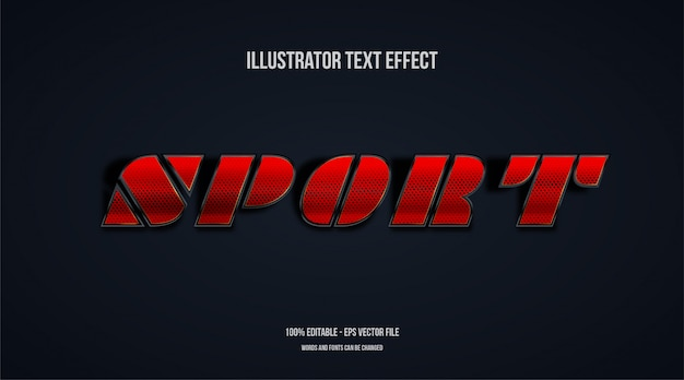 Efekt sport text