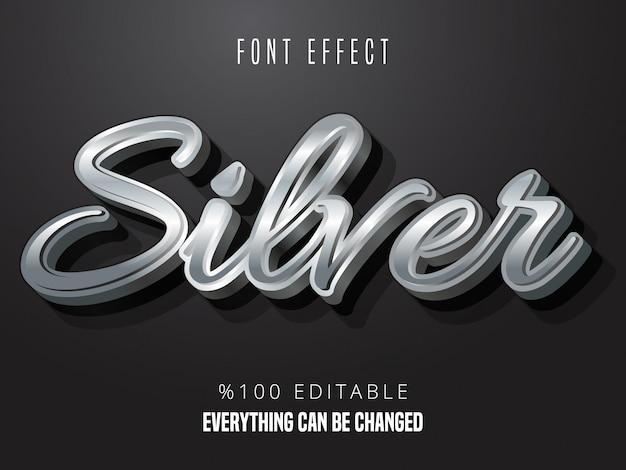 Efekt srebrnej czcionki gradientowej