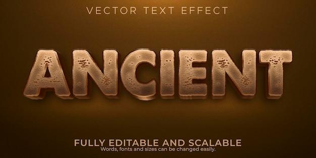 Efekt starożytnego tekstu; edytowalna historia i stary styl tekstu