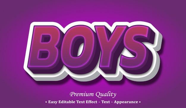Efekt stylu czcionki chłopców