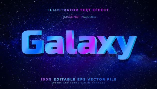Efekt stylu edytowalnego tekstu galaxy 3d
