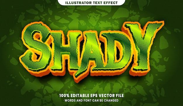 Efekt stylu edytowalnego tekstu shady 3d