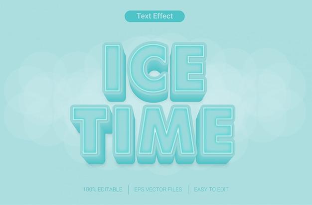 Efekt stylu edytowalnego tekstu w czasie lodu