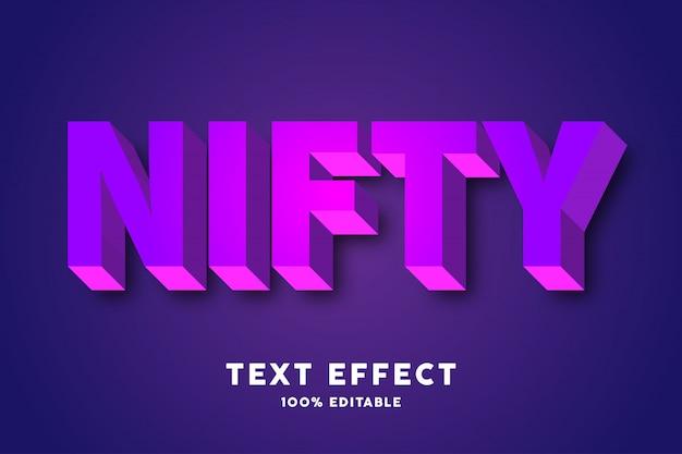 Efekt stylu fioletowy różowy tekst