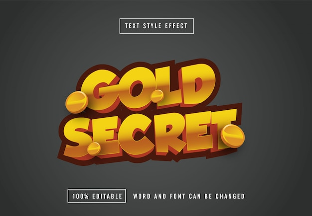 Efekt stylu gold secret text