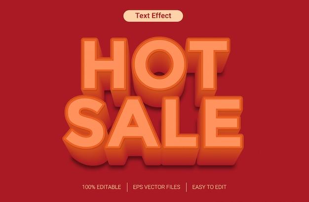 Efekt stylu gorącej sprzedaży pomarańczowy tekst
