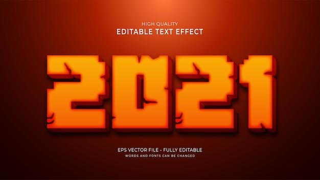 Efekt stylu graficznego 2021. edytowalny efekt czcionki