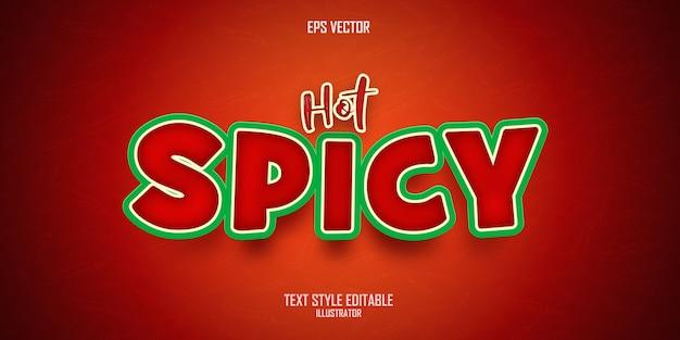 Efekt stylu hot spicy text