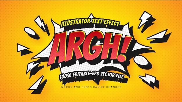 Efekt stylu komiksowego tekstu bąbelkowego str