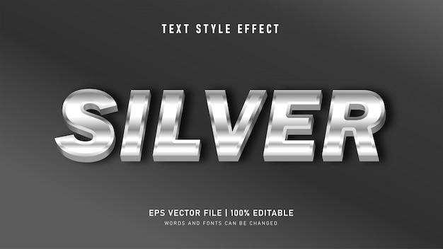 Efekt Stylu Metalowego Srebrnego Tekstu Premium Wektorów