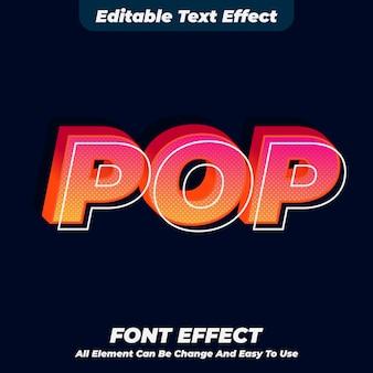 Efekt stylu pop tekstu