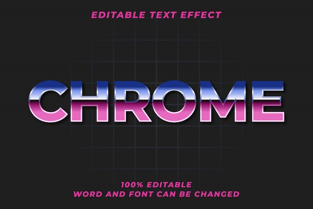 Efekt stylu retro tekst chrom