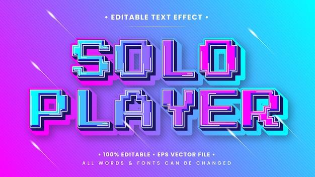 Efekt stylu tekstu 3d w grach jednoosobowych. edytowalny styl tekstu programu illustrator.