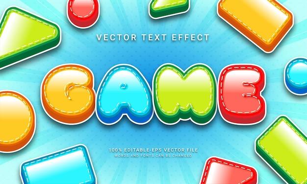 Efekt stylu tekstu 3d w grze!