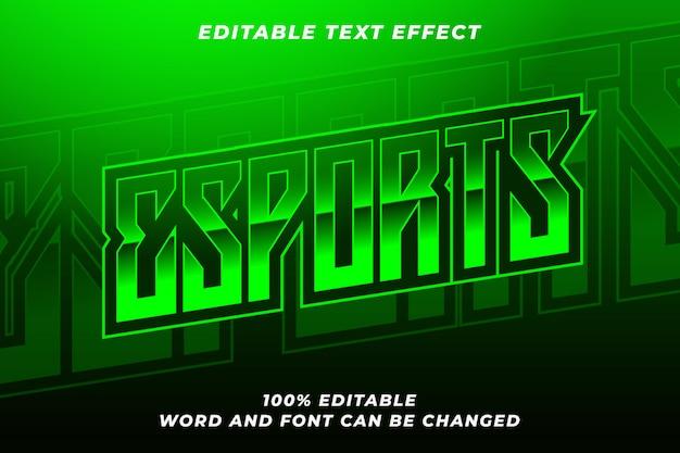 Efekt stylu tekstu e-sportowego