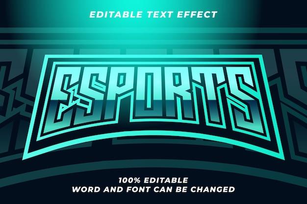Efekt stylu tekstu esport