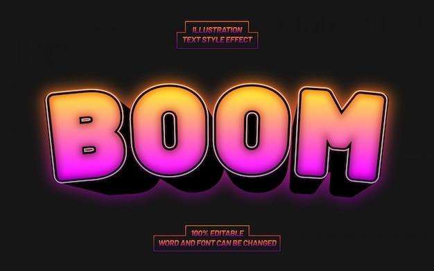 Efekt stylu tekstu gradientu boomu