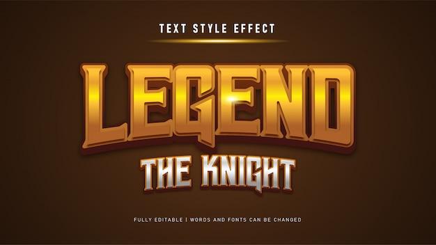 Efekt stylu tekstu gry. edytowalny efekt tekstowy.