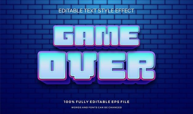 Efekt stylu tekstu gry wideo. edytowalna czcionka