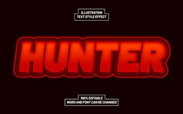 Efekt stylu tekstu hunter bold bold