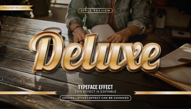 Efekt stylu tekstu latte gold