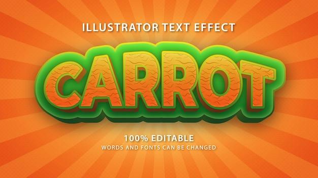 Efekt stylu tekstu marchewki, tekst edytowalny