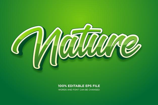 Efekt stylu tekstu nature fresh