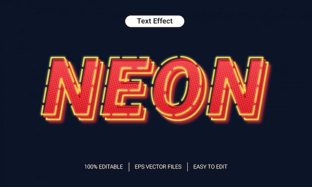 Efekt stylu tekstu półtonów światła neonowego