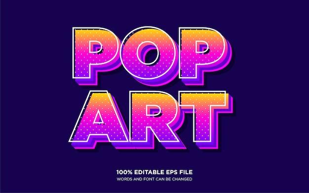 Efekt stylu tekstu pop art