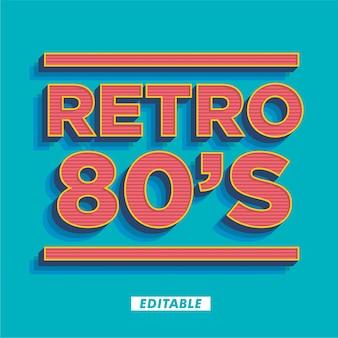 Efekt stylu tekstu retro z lat 80