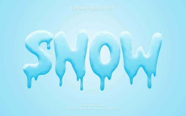 Efekt stylu tekstu śniegu