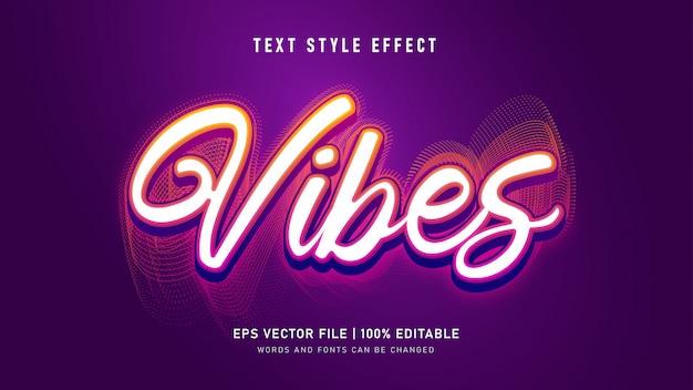 Efekt Stylu Tekstu Vibes Premium Wektorów