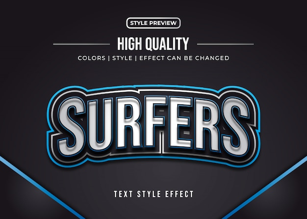 Efekt stylu tekstu w grach 3d dla tożsamości zespołu lub naklejki