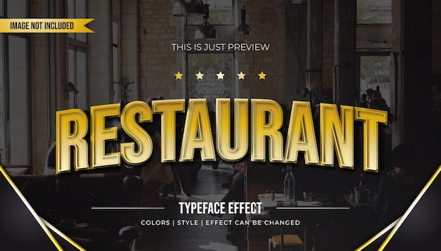 Efekt stylu zakrzywionego tekstu ze złotym gradientem
