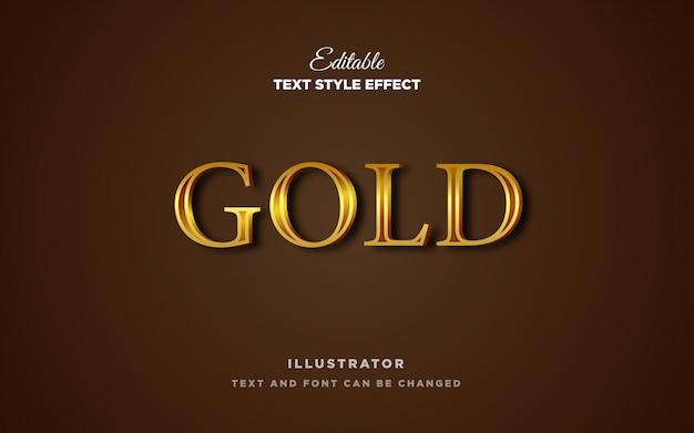 Efekt stylu złotego metalu