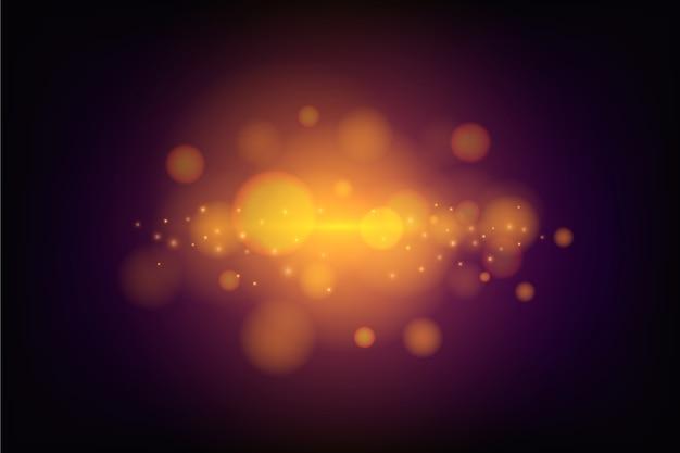 Efekt świateł bokeh na ciemnej tapecie