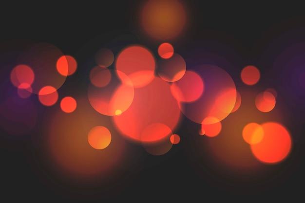 Efekt świateł bokeh na ciemnych tapetach