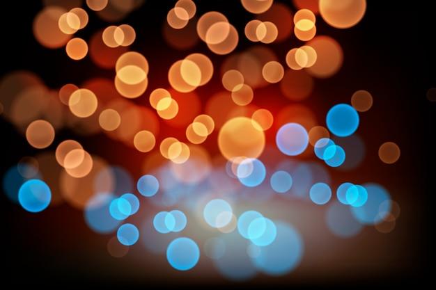 Efekt świateł bokeh na ciemnym tle motywu