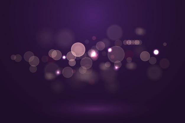 Efekt świateł bokeh na ciemnym tle