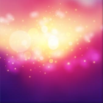 Efekt świateł bokeh na kolorowym gradiencie