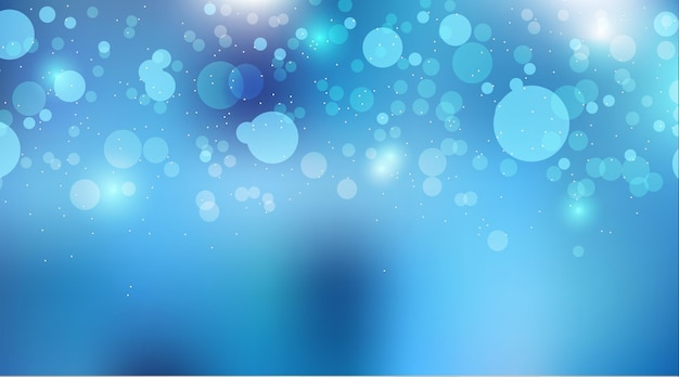 Efekt świateł bokeh na niebiesko