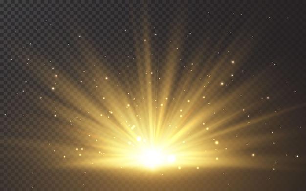 Efekt światła błyskowego specjalnej soczewki słonecznej