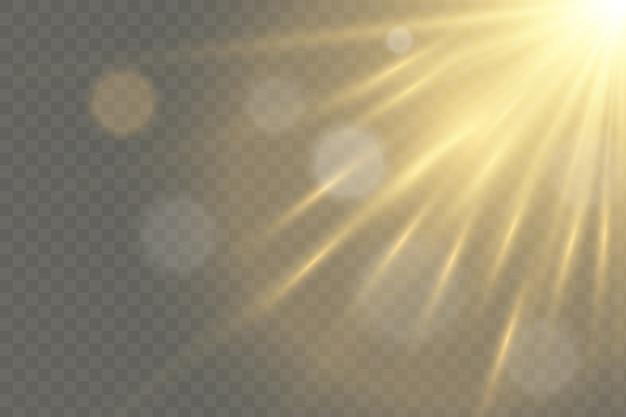 Efekt światła błyskowego z przezroczystym światłem słonecznym