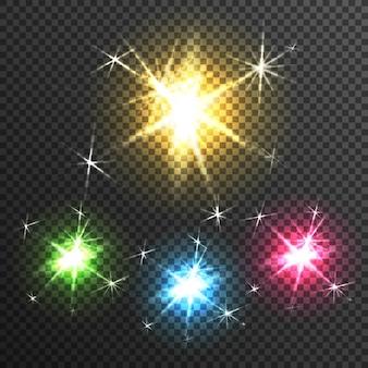 Efekt światła gwiazdowego przezroczysty obraz