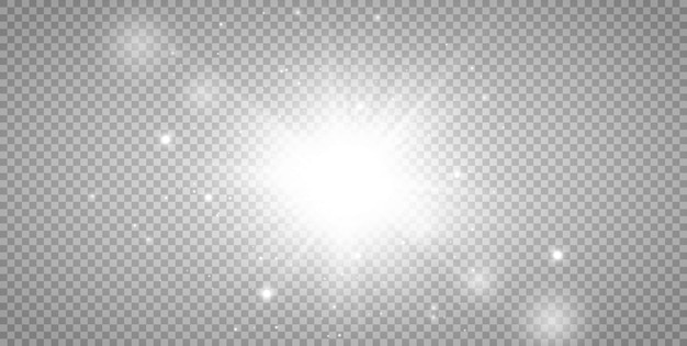 Efekt światła słonecznego ze specjalną lampą błyskową