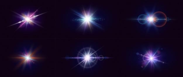 Efekt świecącego światła. gwiazdy.