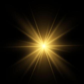 Efekt świetlny blask na czarnym tle