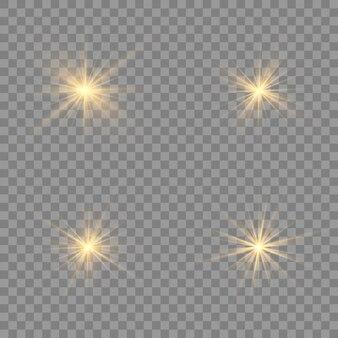 Efekt świetlny blask na przezroczystym tle