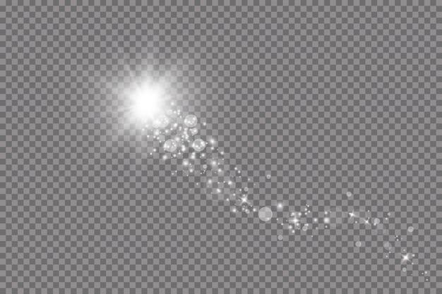 Efekt świetlny blasku. ilustracji wektorowych. boże narodzenie flash. kurz padający śnieg. dekoracja.